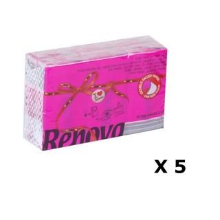 Lot de 5 - 6 Paquets de mouchoirs parfumés - Triple épaisseur - Rose