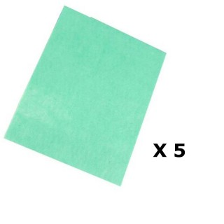 Lot de 5 - Serpillière anti-bactéries - 50 x 40 cm - Parfum pin