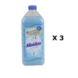 Lot de 3 - Adoucissant Liquide Concentré - 75 Lavages - Bouffée d'air frais