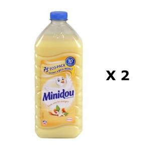 Lot de 2 - Adoucissant Liquide Concentré - 75 Lavages - Fleur d'oranger et Agrumes