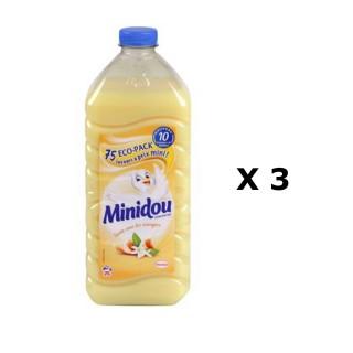 Lot de 3 - Adoucissant Liquide Concentré - 75 Lavages - Fleur d'oranger et Agrumes