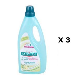Lot de 3 - Nettoyant sols et surfaces - 1 L - Citron