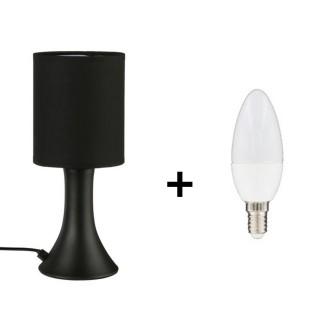 Lampe de chevet Touch - Ampoule incluse - Noir
