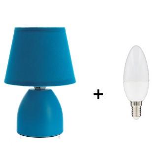 Lampe de chevet Cleva - Ampoule incluse - Bleu