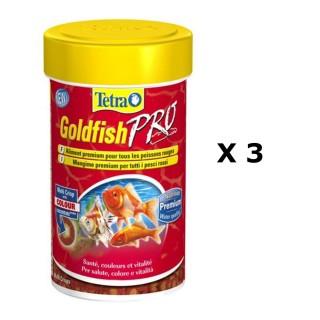 Lot de 3 - Nourriture Poissons d'eau froide Tetra Goldfish Crisps - 100 ml
