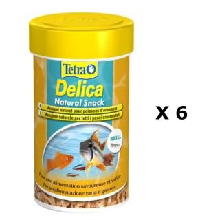 Lot de 6 - Complément d'alimentation Poissons d'ornement Tetra Delica Krill - 100 ml