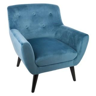 Fauteuil contemporain Eole - H. 70,5 cm - Bleu