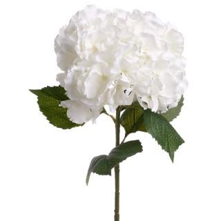 Tige artificielle d'Hortensia - H. 83 cm - Blanc