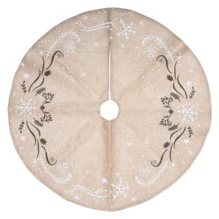 Tapis pour sapin de Noël - Diam. 90 cm - Marron