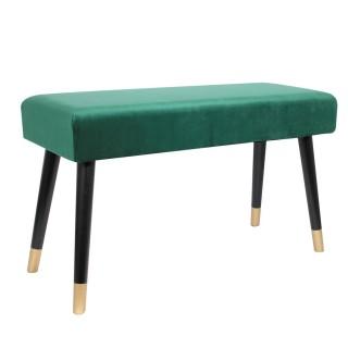 Banc design velours - L. 78 cm - Vert