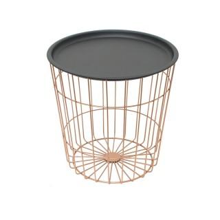 Table à café filaire Joy - Diam. 38 cm - Effet cuivré