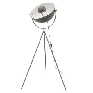 Lampadaire trépied en métal Cinéma - H. 145 cm - Gris