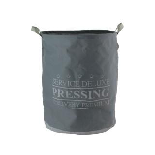 Panier à linge en tissu rigide Deluxe - 63 L - Gris