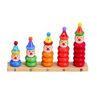 Cercle en bois à empiler - Jouet éveil - Multicolore