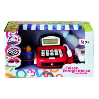 Caisse enregistreuse pour enfant - Accessoires de courses - Rouge