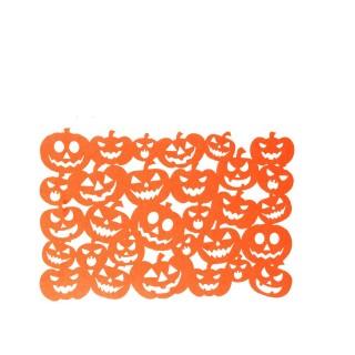 Décoration d'Halloween - Set de table citrouille - Orange