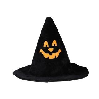 Déguisement d'Halloween - Chapeau citrouille - Noir et orange