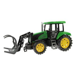 Jouet tracteur tractopelle - L. 45 - Vert