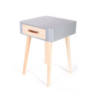 Table de chevet Scandinave - 1 Tiroir - Gris
