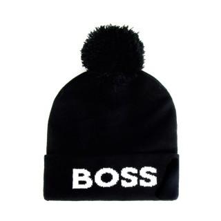 Bonnet à pompon homme - Boss - Noir