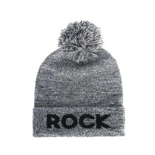Bonnet à pompon homme - Rock - Gris