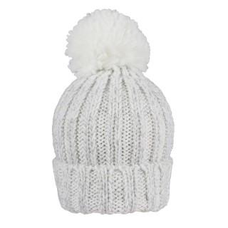 Bonnet à gros pompon - Blanc