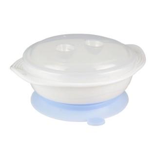 Bol à ventouse pour bébé - 13,5 x 15 cm - Bleu