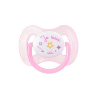 Tétine pour enfant phosphorescente - Rose