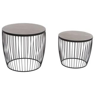2 Tables à café Modern - Diam. 55 cm - Noir