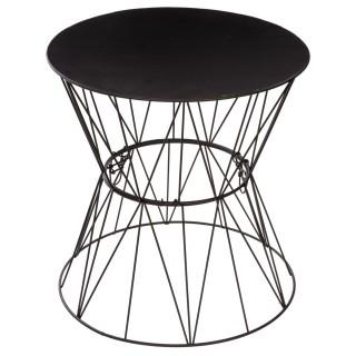 Table à café Filaire Jym - Diam. 39,5 cm - Noir