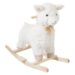 Mouton à bascule - H. 49 cm - Blanc
