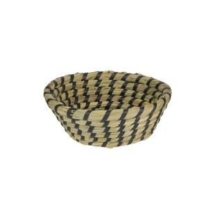 Coupelle en osier Bord de mer - Diam. 15 cm - Noir