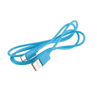 Cable USB Type-C universel - Ultra fin - 1 m - Bleu