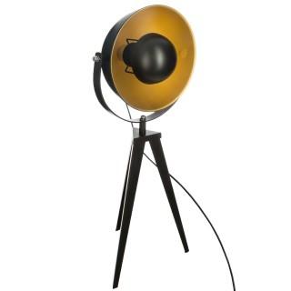 Lampe trépied Tipo - Diam. 32 x H. 65 cm - Noir et doré