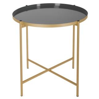 Table à café en métal Sanat - Diam. 48 cm - Gris