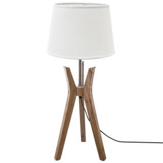 Lampe trépied en bambou Kalo - H. 65 cm - Blanc