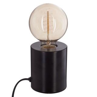 Lampe à poser en fer Ampoule - H. 10,5 cm - Noir