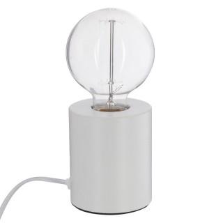 Lampe à poser en fer Ampoule - H. 10,5 cm - Blanc