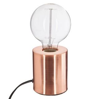 Lampe à poser en fer Ampoule - H. 10,5 cm - Couleur cuivre