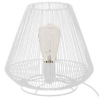 Lampe en métal filaire Contempo - Diam. 27 cm - Blanc