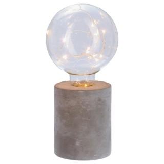 Lampe Ampoule avec micro Led - H. 18 cm - Rond