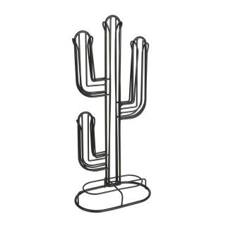Porte-capsule Cactus - H. 42,2 cm - Noir