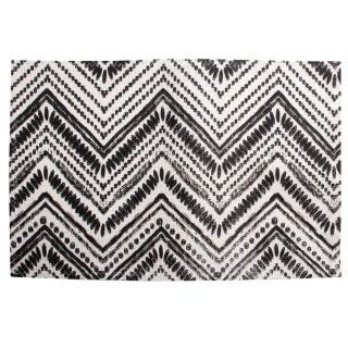 Set de table en tissu Ethnique - 45 x 30 cm - Noir et blanc