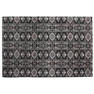 Set de table en tissu Ethnique - 45 x 30 cm - Noir