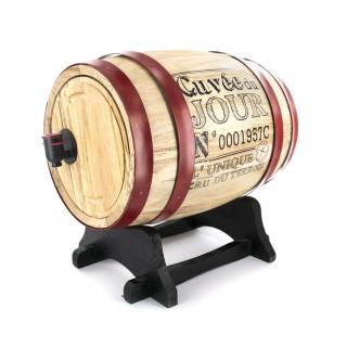 Tonneau distributeur à vin Bistrot - 3 L - Rouge