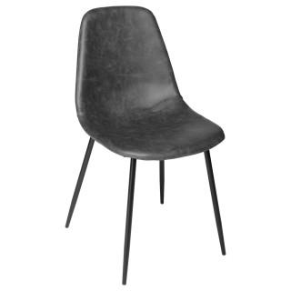 Chaise vintage Vladi - H. 82 cm - Gris