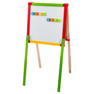 Tableau en bois double face - H. 92 cm - Multicolore