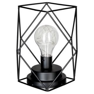 Lampe en métal filaire Box - 16 x H. 18 cm - Noir