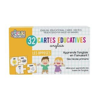 32 Cartes éducatives en anglais - Les opposés