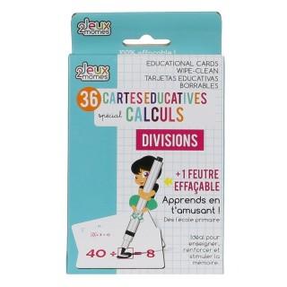 36 Cartes éducatives mathématique - Division